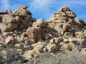 Joshua Tree National Park rock scrambling