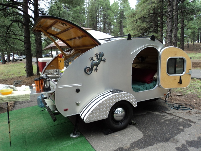 Photos Of Our Own Home Built Custom Teardrop Trailer