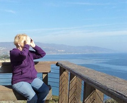 Whale watching in LA, Point Dume, Southern California