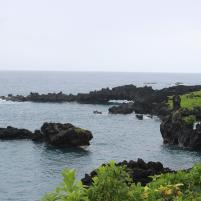 Haleakala National Park, black lava sea arch, maui, hana