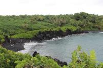 Haleakala National Park, black lava rock and sand, hana, maui