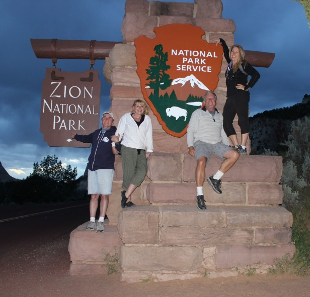 Zion National Park entrance sign