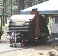 Teardrop Adventures, vintage trailers, Abraham Lincoln Log Cabin, thematic teardrop trailers