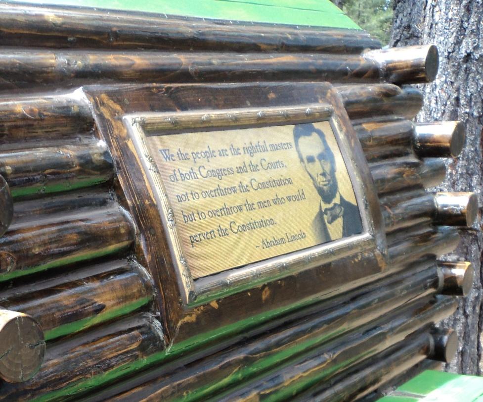 Teardrop Adventures, vintage trailers, Abraham Lincoln Log Cabin, thematic teardrop trailers