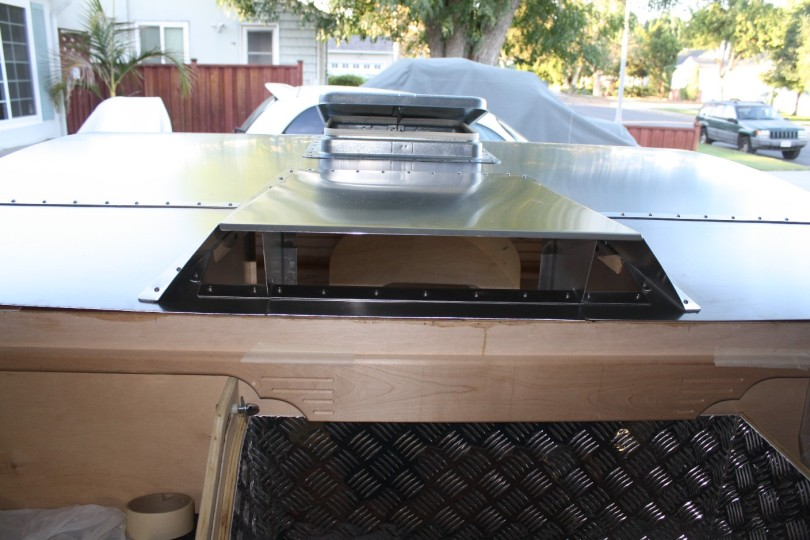 teardrop trailer air conditioning unit installation, camper air conditioning unit, a/c unit, building a teardrop trailer from scratch