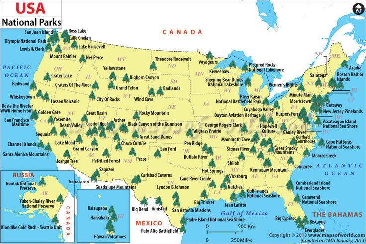 Fantastic AND FREE National Park Map Resource Teardrop Adventures - Map of national parks in united states
