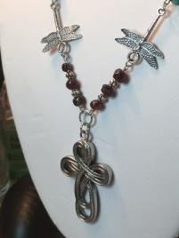 Celtic Cross Turquoise Garnet Necklace 5