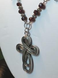 Celtic Cross Turquoise Garnet Necklace 6