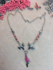 pink flamingo jewelry, nature jewelry, custom jewelry