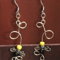 10) Flying bee earrings